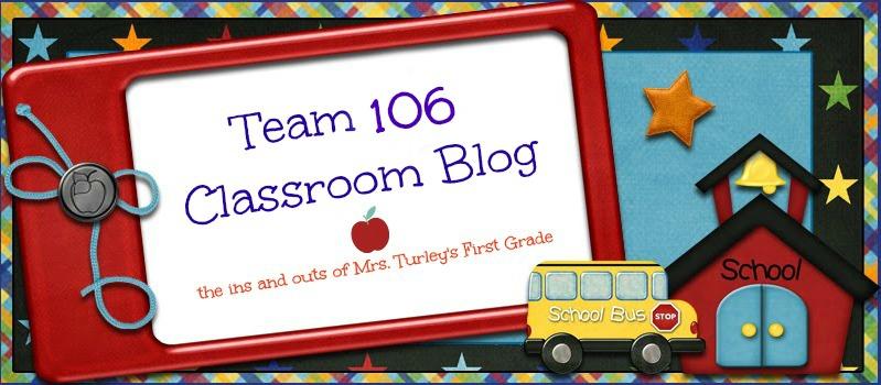 Team 106 First Grade Blog