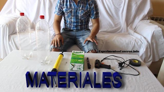 Cómo hacer un cohete de agua, experimentos caseros para niños