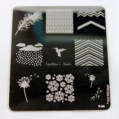 Vivid Lacquer - Stamping Plate VL006