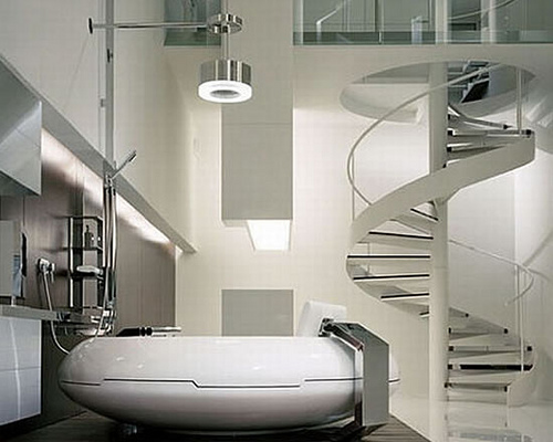Futuristic bathroom design inspire your home for Toilet interior design ideas