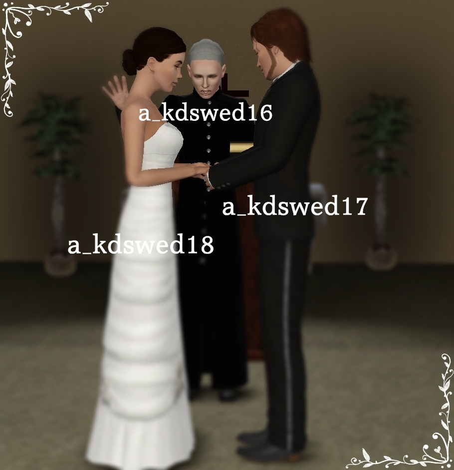 """Wedding Poses: Kiddo's Dreams: Wedding Pack 2 """"The Ceremony Part 1"""""""