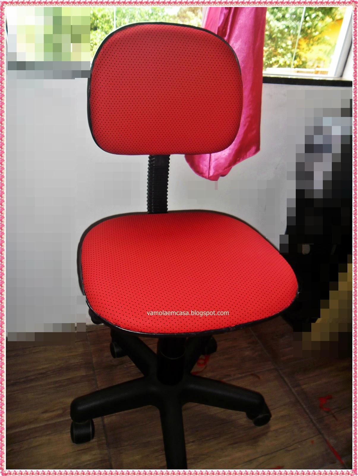 Vâmo Lá em Casa: Reformando a Cadeira do Computador com Tecido #AA2124 1205x1600