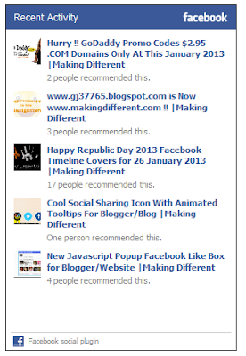 How To Add Facebook Activity Feed Plugin On Blogger