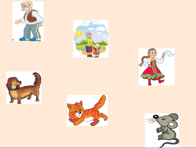 початкові класи: Малюнок дійові особи казки ріпка
