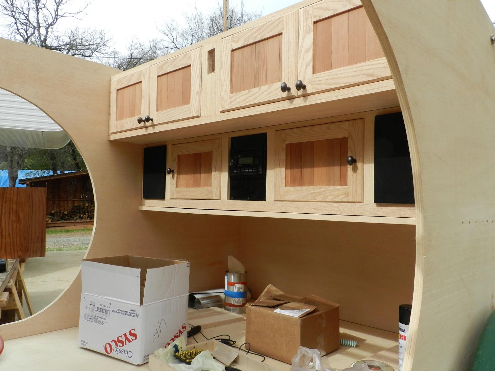 Ed39s teardrop trailer project trailer construction for Teardrop camper interior ideas