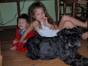 Shabby Gus, and two of  my grandkids.