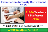 EXAMINATION AUTHORITY RECRUITMENT 2015