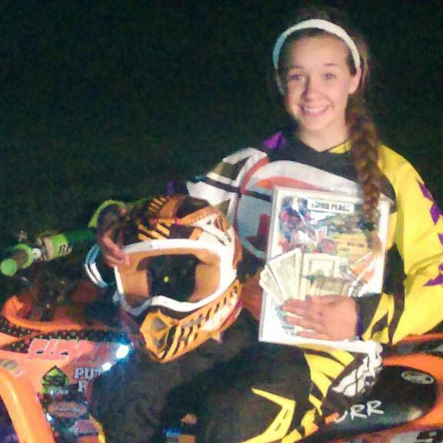Kaitlynn Putnam round 1 and 2 for the needt series took 3rd in 90cc both rounds,3rd and a 2nd in supermini. #DRR # DRRracing #DRRUSA , #girlpower, orange,black,pink, yellow,90cc, needt series, supermini