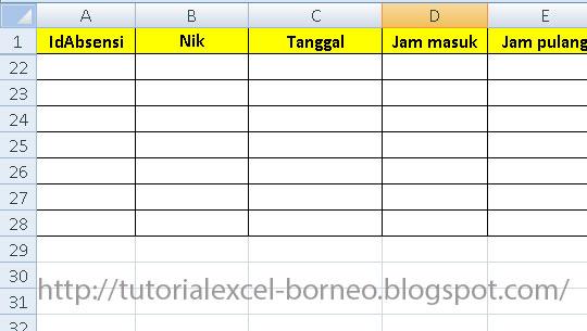 cara mengolah data karyawan bagian 4 tutorial microsoft excel rh tutorialexcel borneo blogspot com Mesin Absensi Fingerprint Absensi Siswa