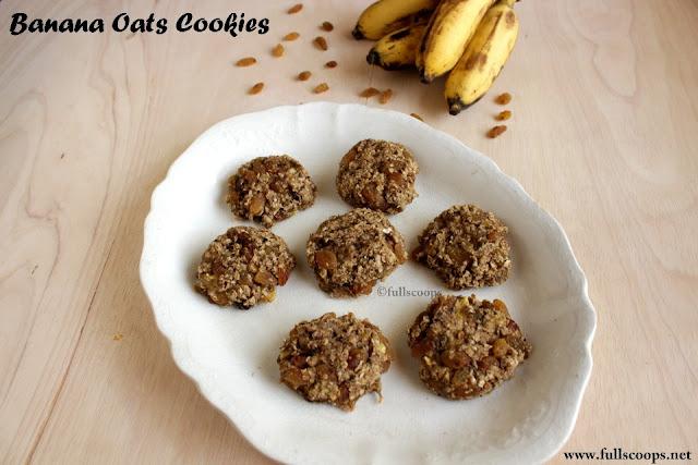 Banana Oats Cookies