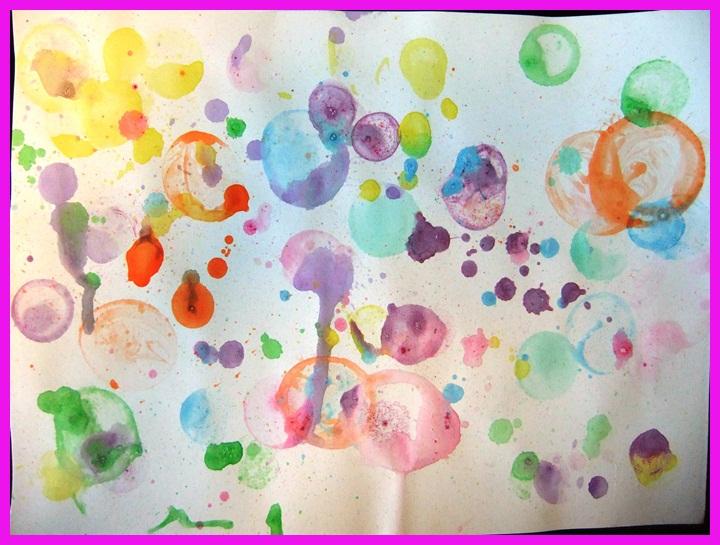 Super Studiamando liberamente: Dipingere con l'aria: bolle colorate  OA35