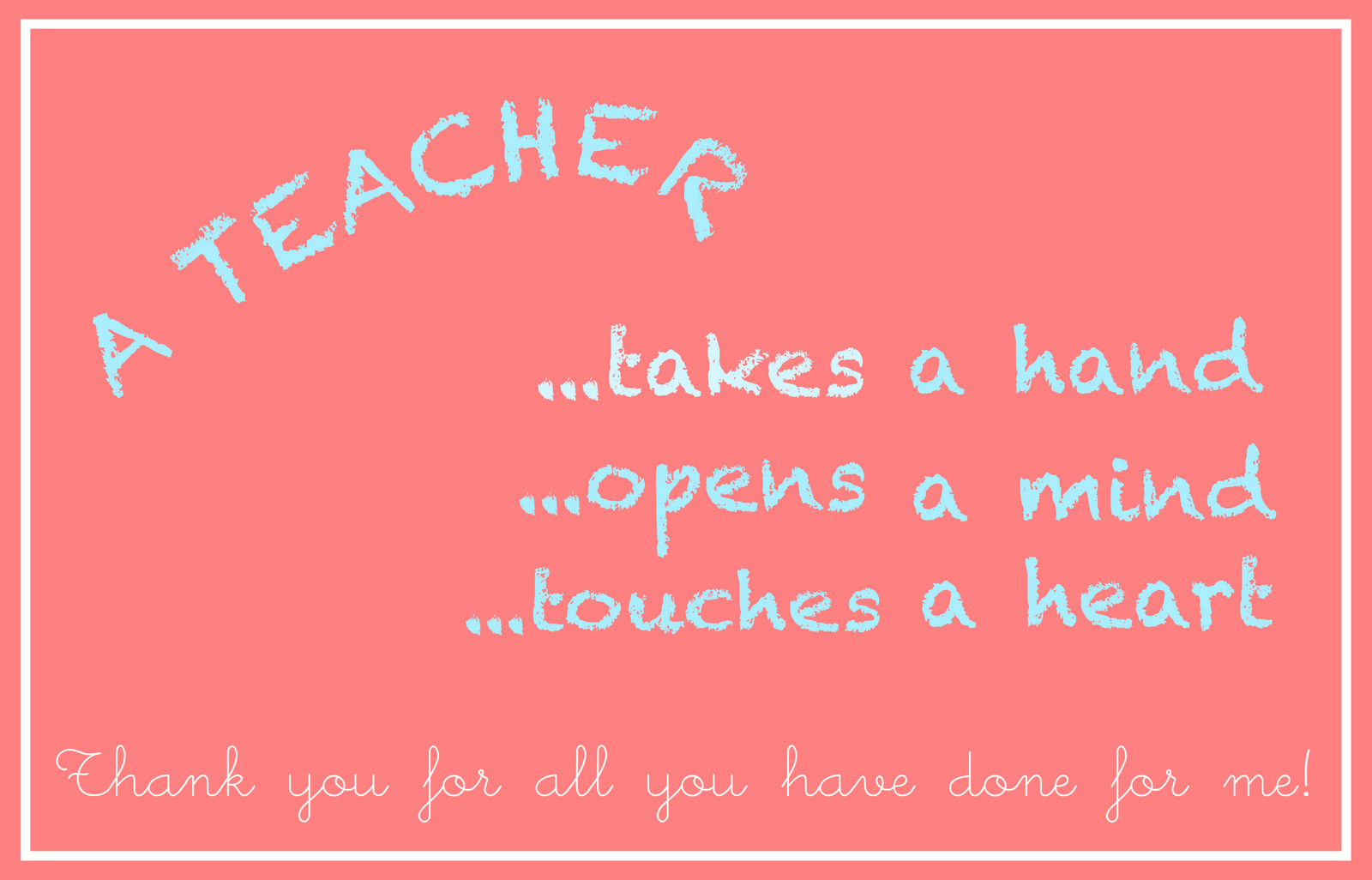 photo relating to Printable Teacher Appreciation Card titled no cost printable trainer appreciation card - an Lehrer