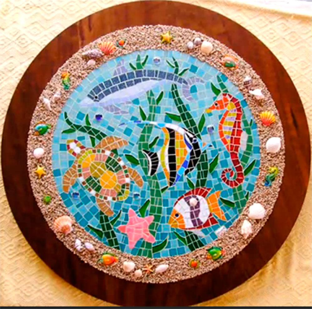 talento da terra artesanato e arte artesanato em mosaico