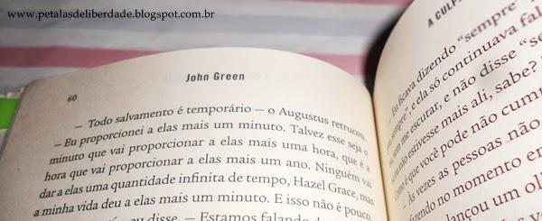 trecho do livro A Culpa é das Estrelas John Green