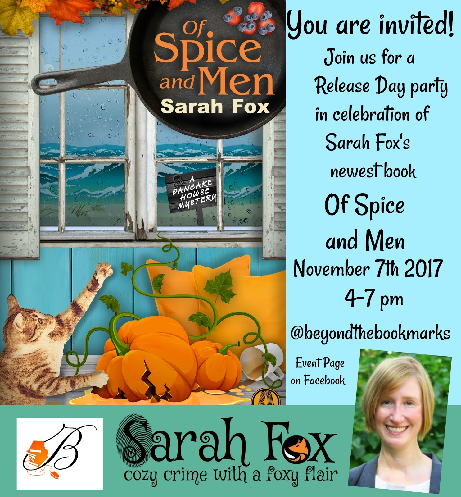 You are invited to the release party for Of Spice and Men by Sarah Fox