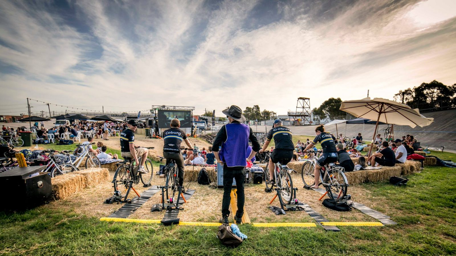 CLIMATE EMERGENCY CINEMA - Powered by bicycles!