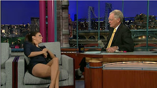 Eva Longoria Wardrobe Malfunction, Legs, A Letterman Tradition