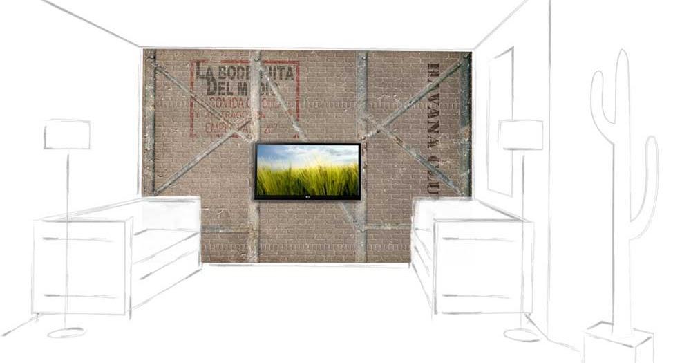 ... für Modernes Wohnen: Ziegelsteinwand mit Eisenträger im Retro-Stil