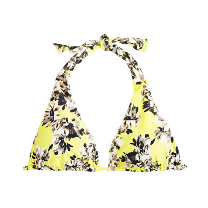 Photo Floral Triangle Halter Top