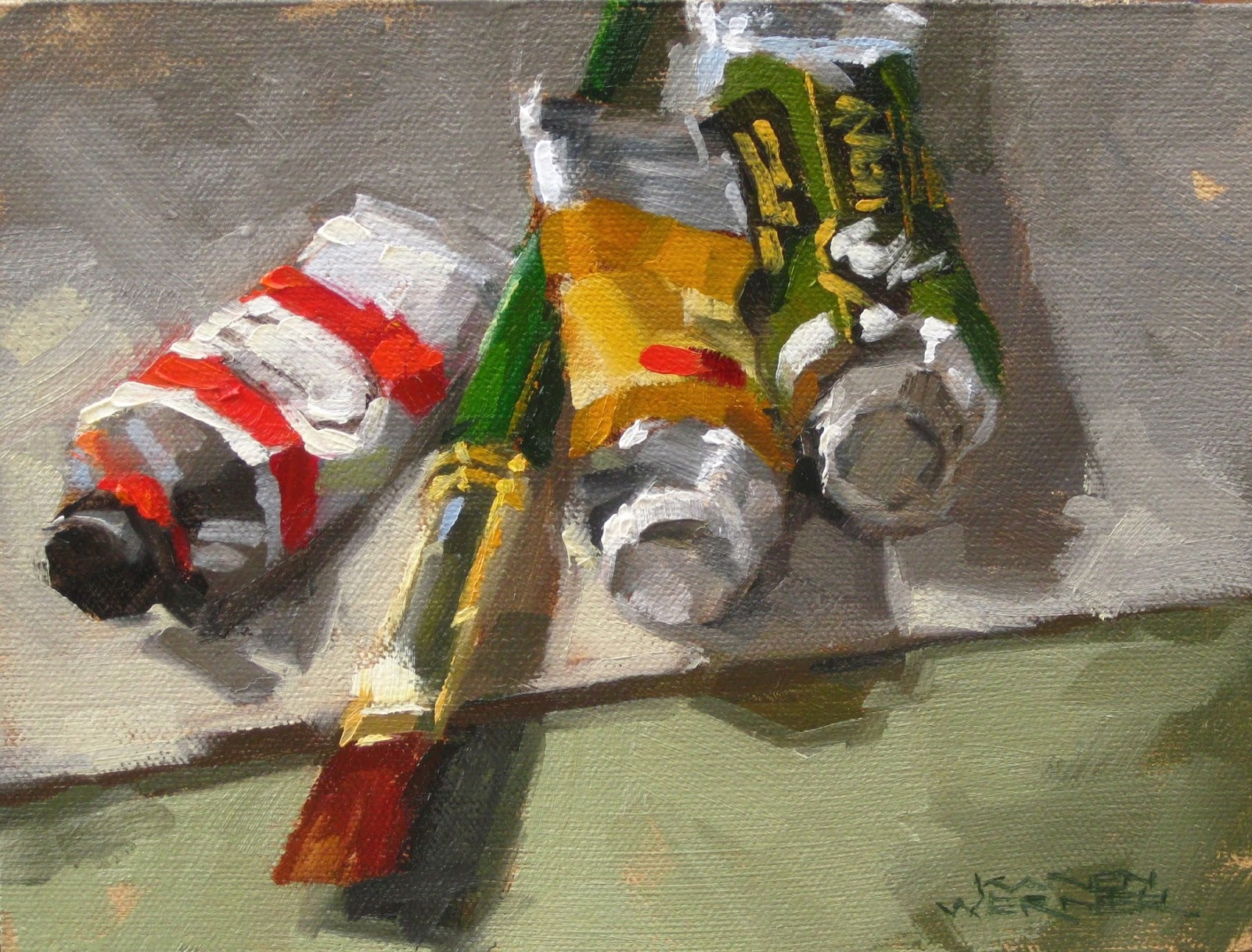 Karen werner fine art oil tubes brushes an oil for Homedepot colorsmartbybehr com paintstore