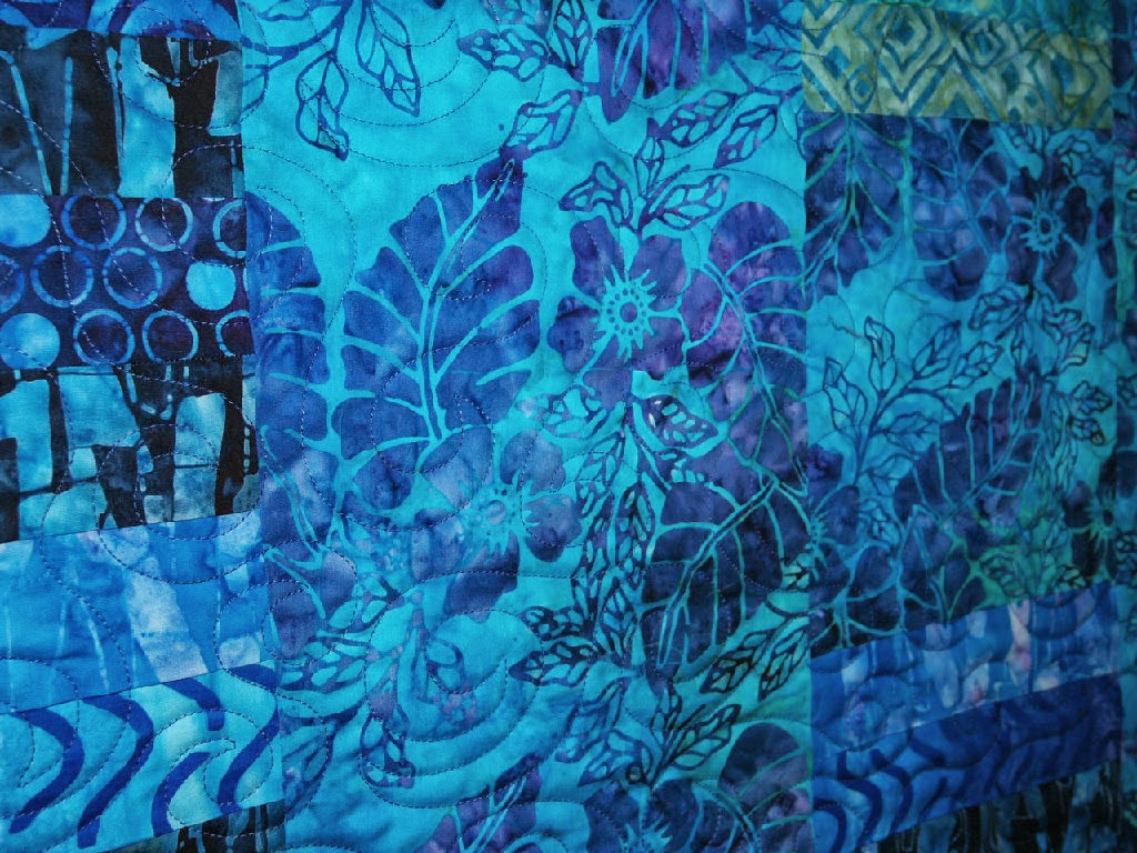 Stella Siwinski Blue Batik Quilt