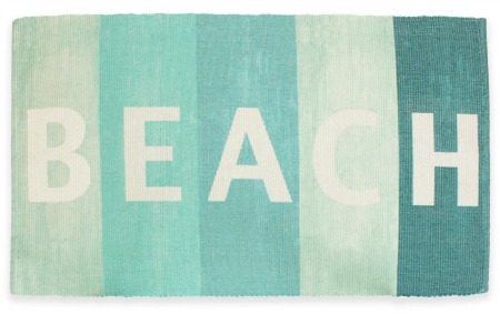 Blue Beach Sign Rug