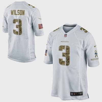 Seattle Seahawks NFL Russel Wilson Salute to Service Game Jersey