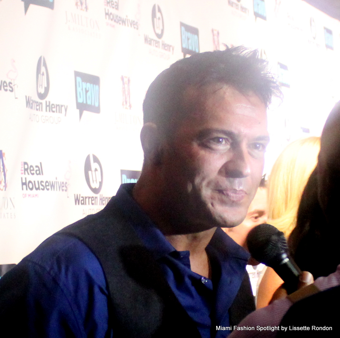 "Romain Zago attending the ""Real Housewives of Miami"" season 3 premier party."