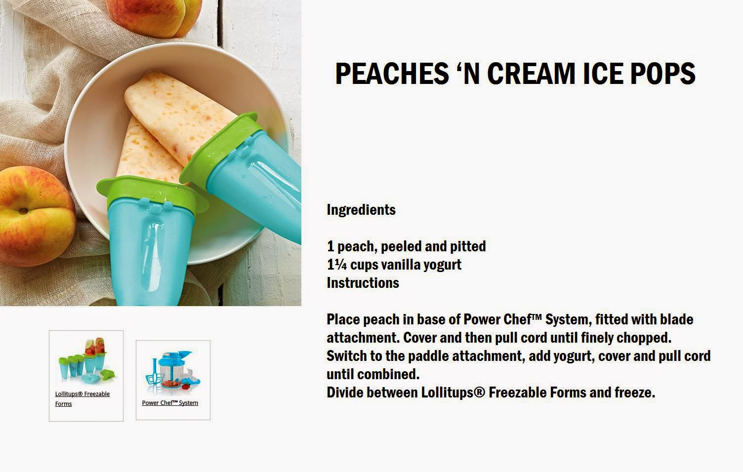 Easy Recipes: Peaches N' Cream Ice Pops