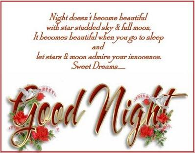 Good Night SMS / Messages in Hindi / Quotes in English