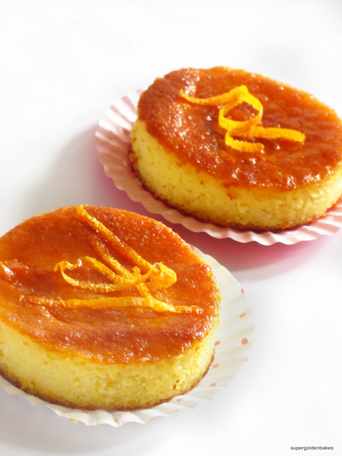Sticky orange and almond mini cakes with Grand Marnier orange syrup