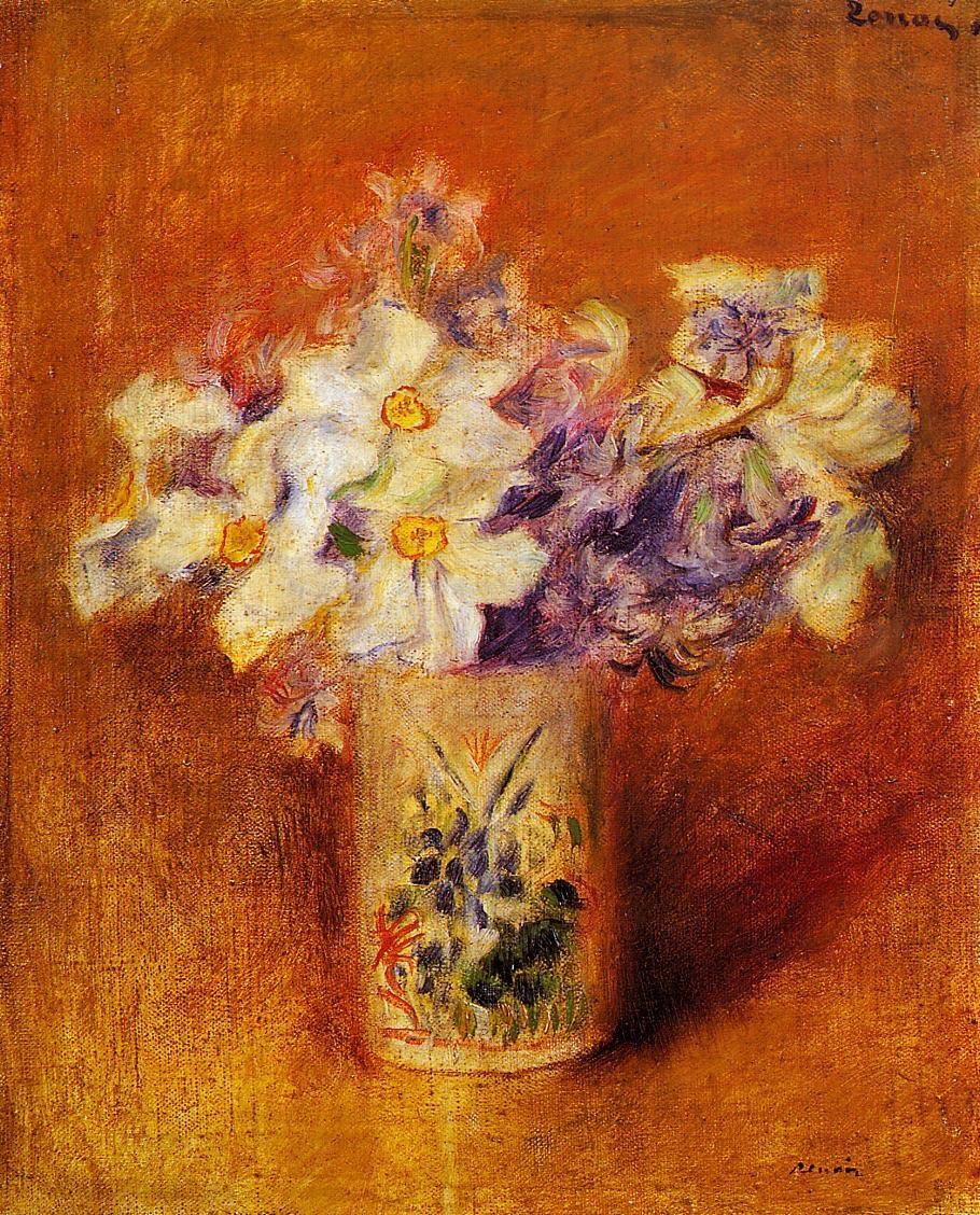 Solitary Dog Sculptor Painter Renoir Pierre Auguste Part 19 Minimal Enigma Floral Blouse Fs August Flowers In A Vase