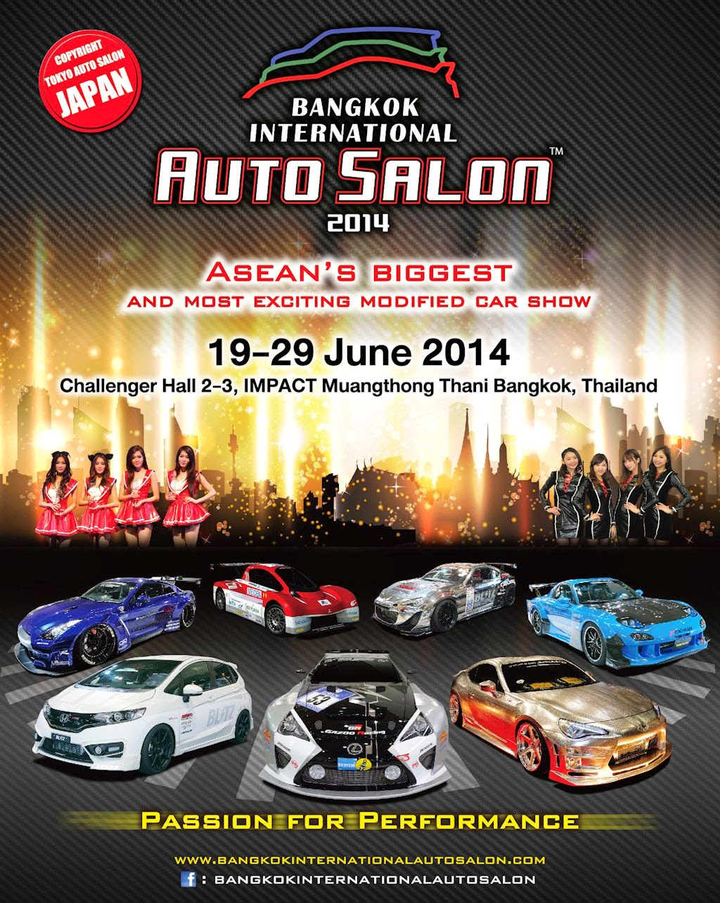The bangkok international auto salon 2014 the largest custom car and accessories show in asean enters its third successful year with the passion for