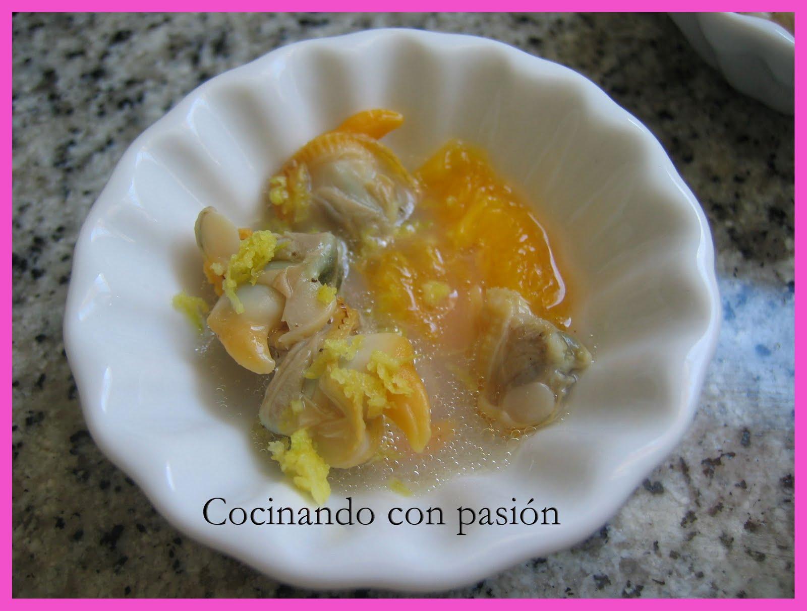 Cocinando con pasi n cucharita de berberechos con naranja - Como cocinar berberechos ...