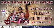 Vertiz, El Capea y El Chihuahua, anunciados en San Juan de los Lagos, el 20/05.