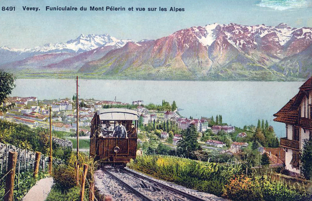 Mont-Pelerin Switzerland  city photos : transpress nz: the Mont Pélerin funicular, Vevey, Switzerland