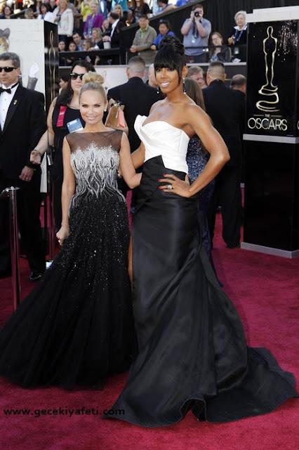 2013 Oscar ödülleri kırmızı halı gece elbiseleri