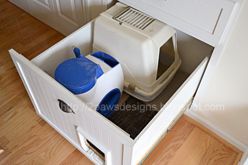 Diy Cat Litter Box In Stairs On Wall