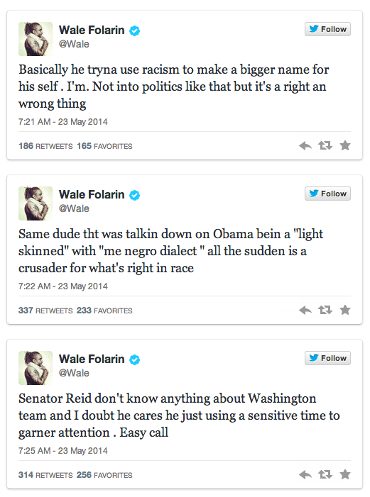 Rapper Calls Out Harry Reid On Race in Very Public Way, Reminds His 3.6M Twitter Followers of Infamous Remark