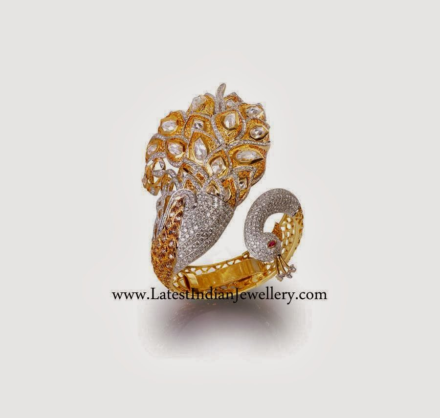 Designer Peacock Diamond Ring