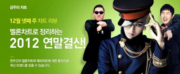 Melon Chart Akhir Tahun 2012