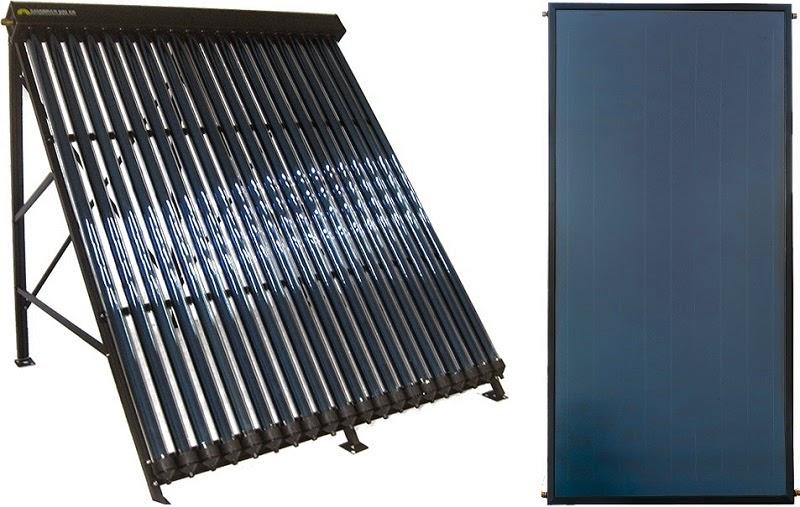 Colectores solares de tubos de vacío frente a colectores solares planos.