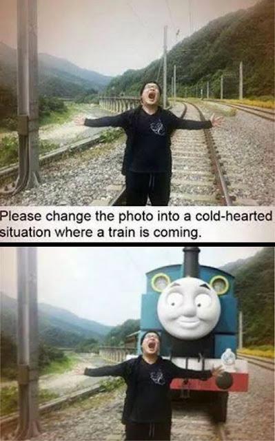 scary Thomas train, thomas train meme