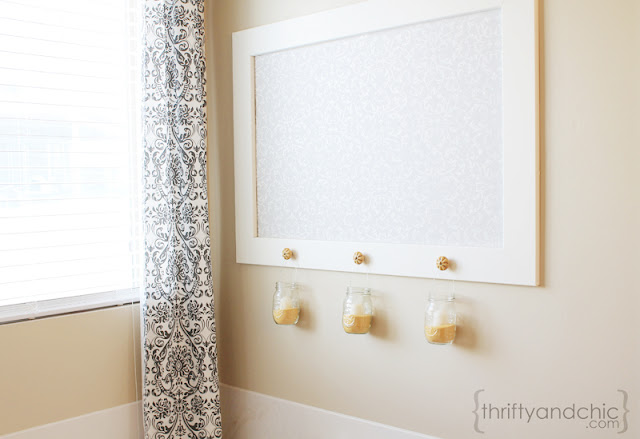Framed Stenciled Wall