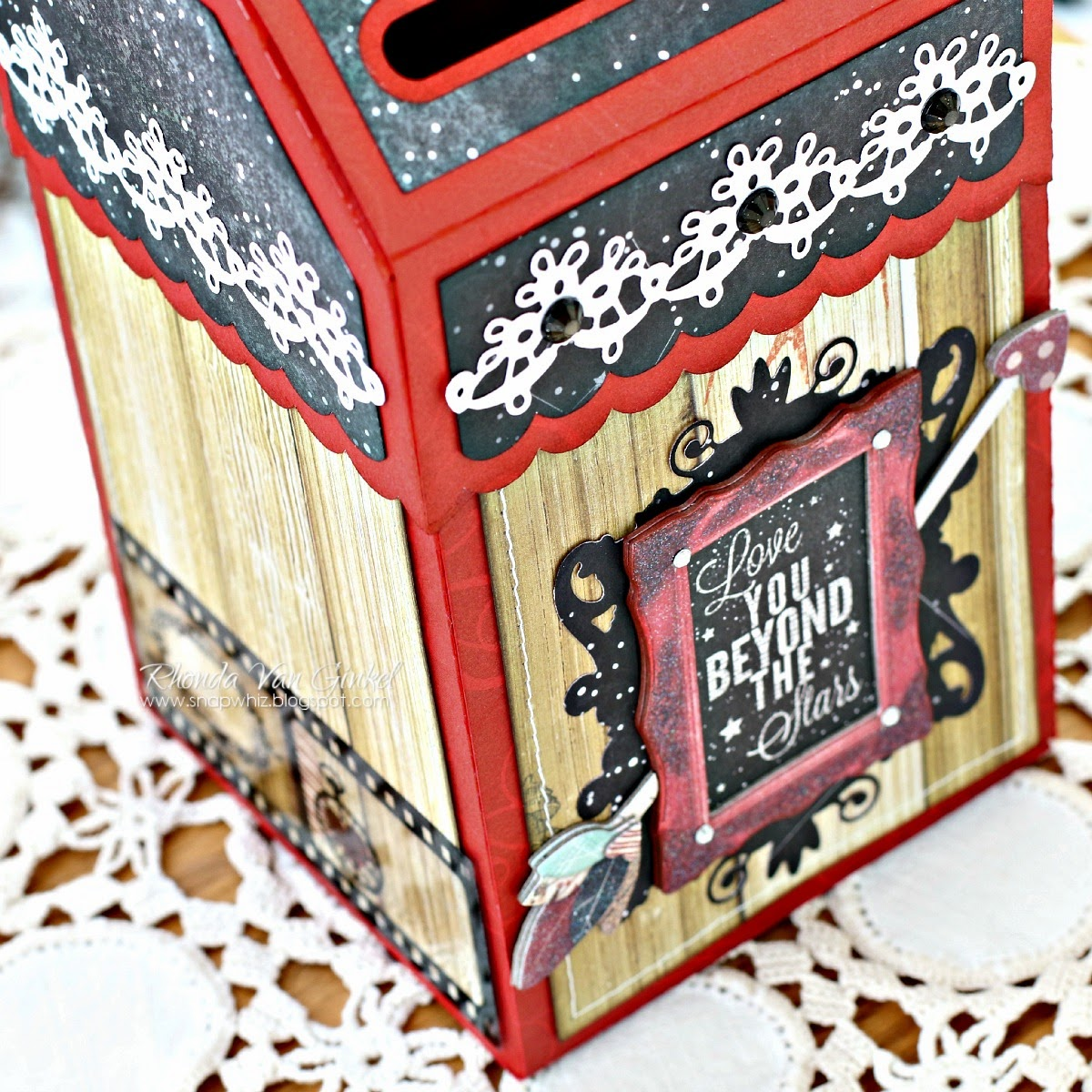 Love You Beyond The Stars Valentine Mailbox featuring Star Crossed Collection from BoBunny by Rhonda Van Ginkel