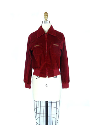 1960s College Town Cranberry Red Corduroy Jacket by College Town / Suze Blazer Listing Stats