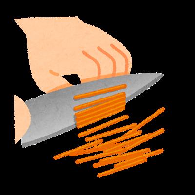 細切りのイラスト(野菜の切り方)