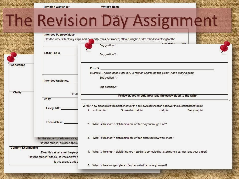 gypsy daughter essays strategies to improve student writing a revision worksheet can help guide students to ensure a smooth revision day