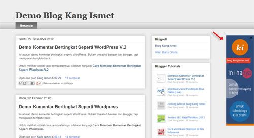 membuat banner melayang di kiri atau kanan blog