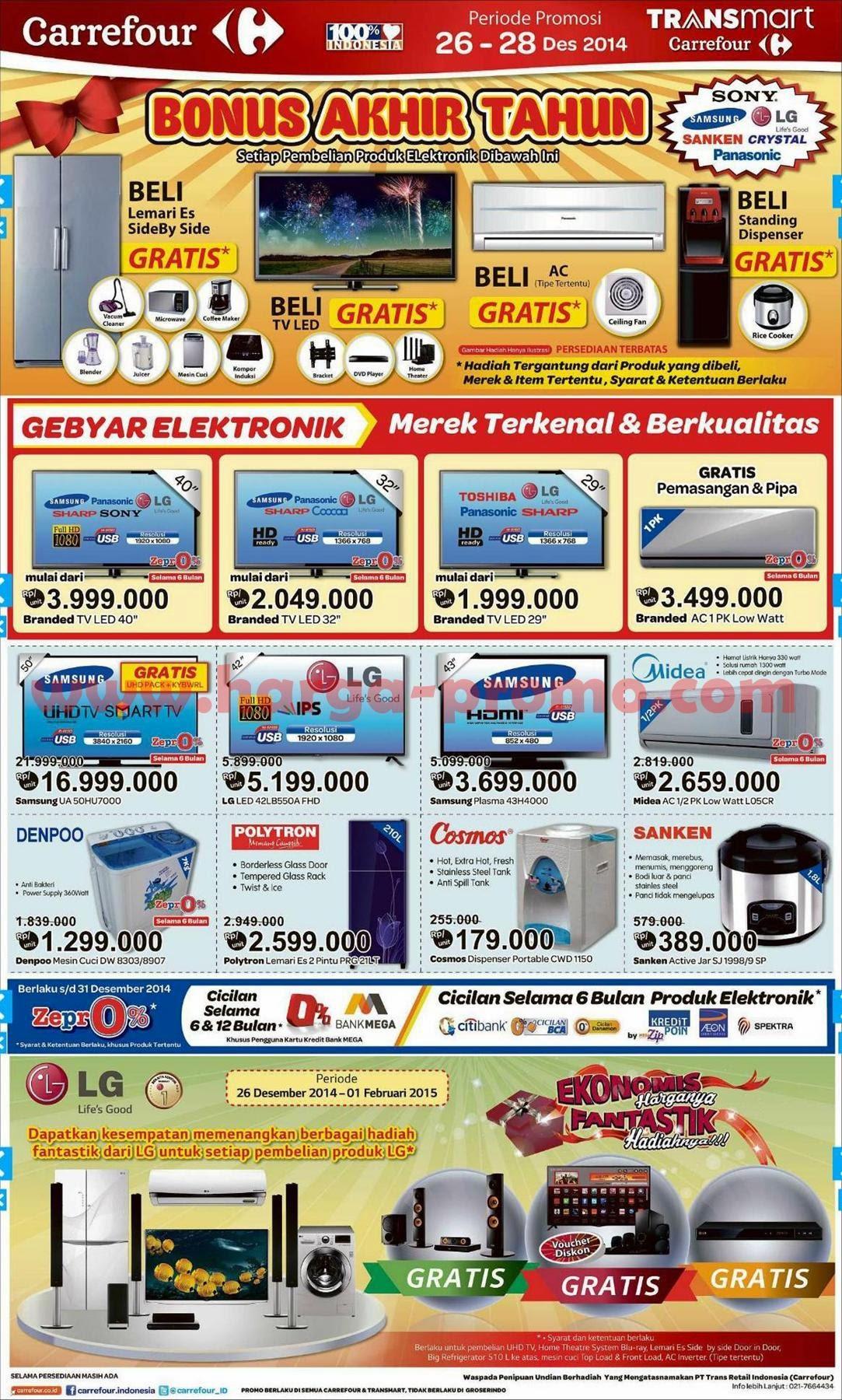 Promosi carrefour akhir pekan electronic fair periode 26 - 28 desember